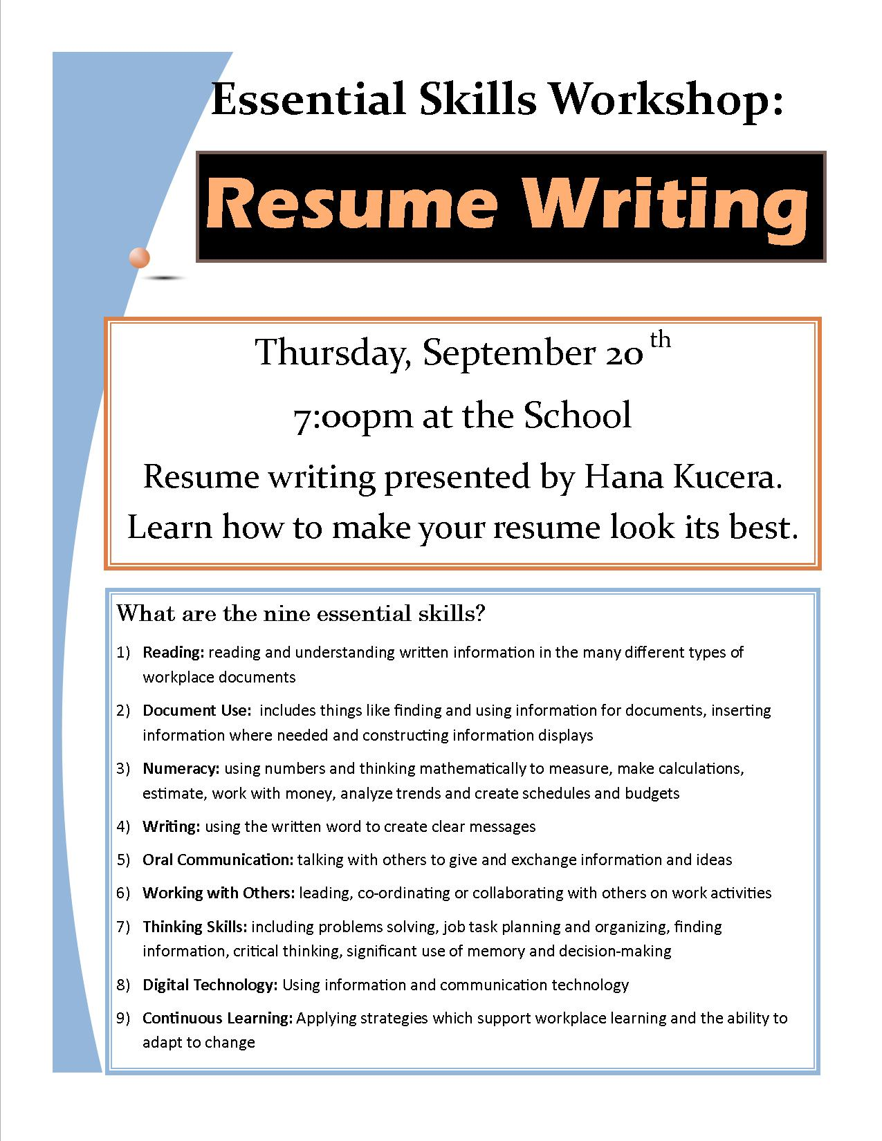 Bamfield Community School Association  Tips For Writing A Resume